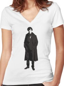 Sherlock Holmes, Consulting Detective Women's Fitted V-Neck T-Shirt