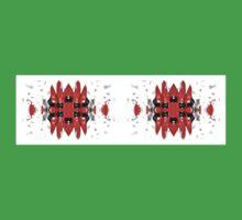Sturt's Red Desert Pea Stripe Bold One Piece - Short Sleeve