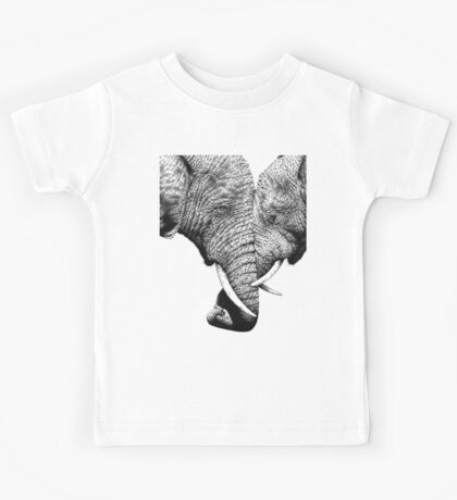 African Elephants with trunks entwined Kids Tee