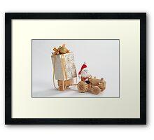 Christmas driver Framed Print