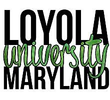 Loyola University Maryland Block Photographic Print