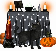 Witches cat .. October  by LoneAngel