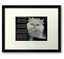 """""""Princess Kendra"""" Poem Written by Dawn M. Becker..Kendra's Other Mommy..xx Framed Print"""