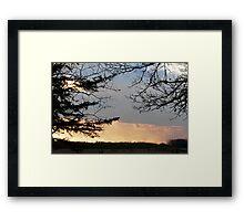 Gorgeous October Sunset Framed Print