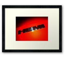HEMI Logo - taken from 2010 Dodge Challenger R/T Framed Print
