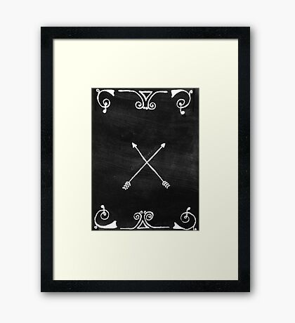 White arrows Framed Print