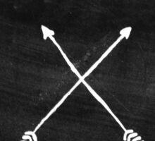 White arrows Sticker