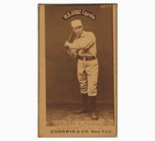 Benjamin K Edwards Collection Bill Bishop Pittsburgh Alleghenys baseball card portrait 001 One Piece - Short Sleeve