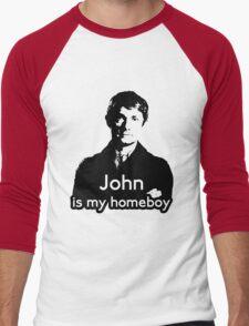 John is My Homeboy Men's Baseball ¾ T-Shirt