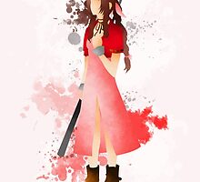 Final Fantasy 7: Aerith Gainsborough Giclee Art Print by paperheroes