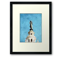 Watching Over the Plaza Framed Print