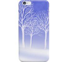 Woodland in Winter Scene iPhone Case/Skin