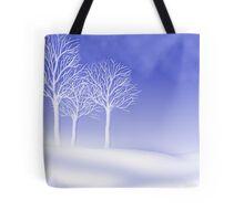 Woodland in Winter Scene Tote Bag
