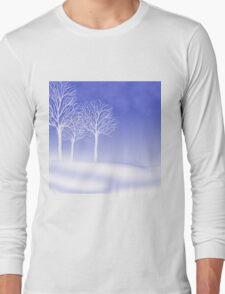 Woodland in Winter Scene Long Sleeve T-Shirt