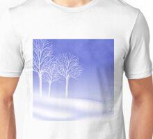 Woodland in Winter Scene Unisex T-Shirt