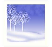 Woodland in Winter Scene Art Print