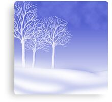Woodland in Winter Scene Canvas Print