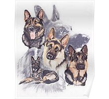 German Shepherd /Ghost Poster
