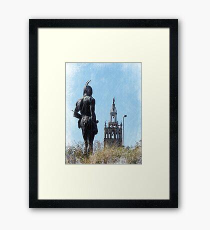 Kansas City Plaza Framed Print