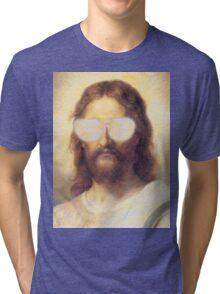 Cool Jesus Street Art Tri-blend T-Shirt
