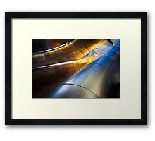 Steel Waves Framed Print