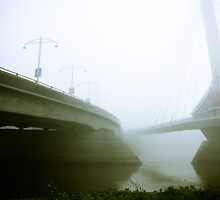 Foggy Waterfront 02 by mdkgraphics