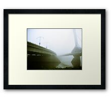 Foggy Waterfront 02 Framed Print