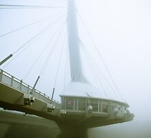 Foggy Waterfront 04 by mdkgraphics
