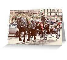 Horse-drawn Ride Greeting Card