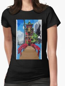 Spirit bathhouse  Womens Fitted T-Shirt
