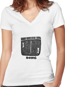 Dong Women's Fitted V-Neck T-Shirt