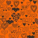 orange hearts by Anastasiia Kucherenko
