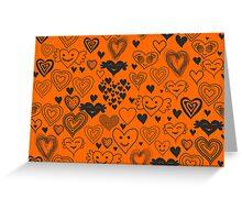 orange hearts Greeting Card