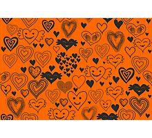 orange hearts Photographic Print