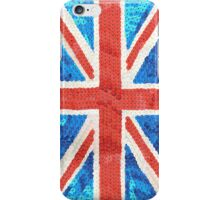 Sequinned effect Union Jack iphone cover iPhone Case/Skin