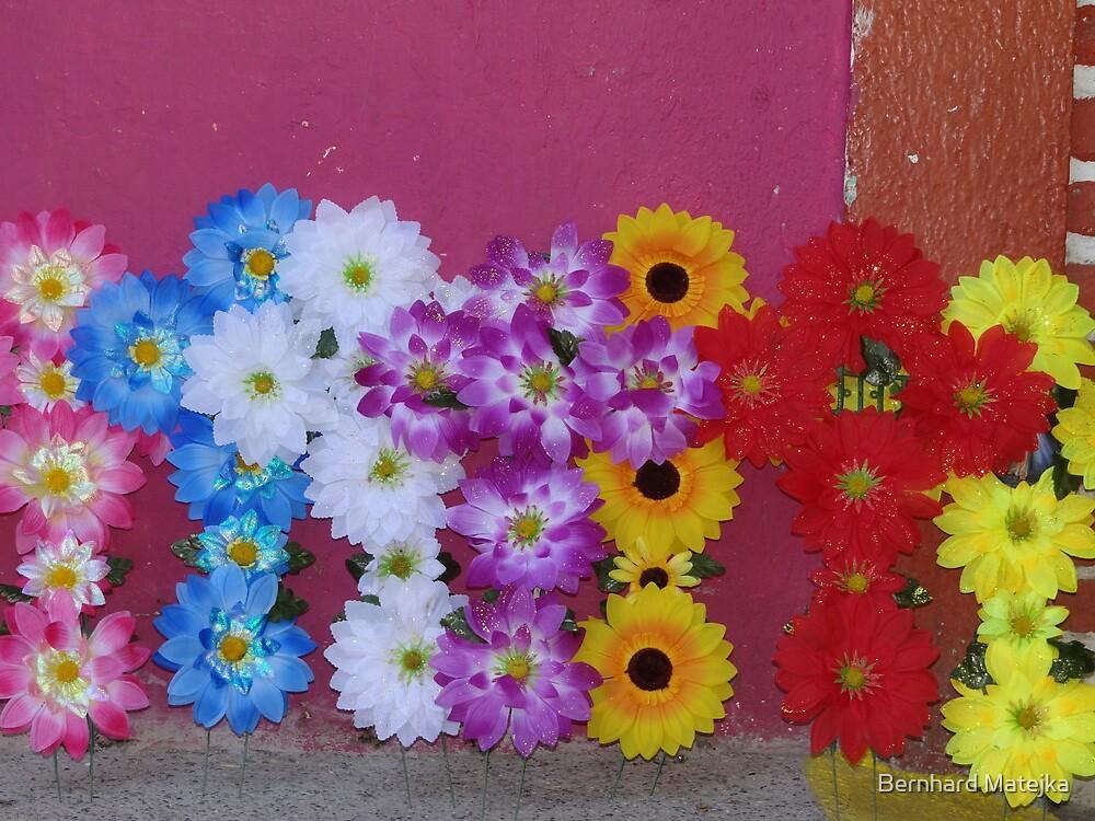 Flower crosses for the All Souls' Day by Bernhard Matejka
