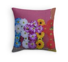 Flower crosses for the All Souls' Day Throw Pillow