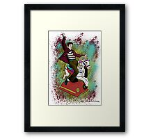 Elvis crazy ride Street Art Framed Print
