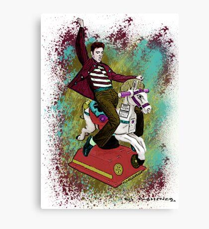 Elvis crazy ride Street Art Canvas Print