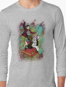 Elvis crazy ride Street Art Long Sleeve T-Shirt