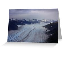 Glacier View from Helicopter Greeting Card