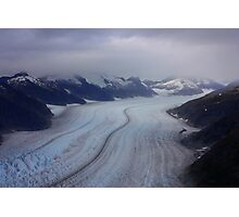 Glacier View from Helicopter Photographic Print