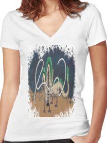 Beautiful River Spirit   Women's Fitted V-Neck T-Shirt