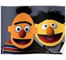 Bert and Ernie parallel universe Street Art Poster