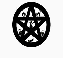 Pagan Pentacle and Black Cats Unisex T-Shirt