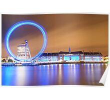 London Eye and Aquarium Poster