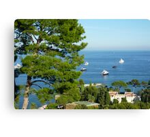 View From The Villa Canvas Print