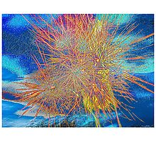 Fireworks bouquet Photographic Print