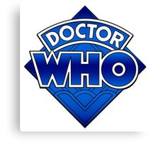 Doctor Who Diamond Logo Blue gradient. Canvas Print