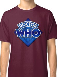 Doctor Who Diamond Logo Blue gradient. Classic T-Shirt